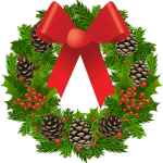 transparent_christmas_wreath_clipart_picture