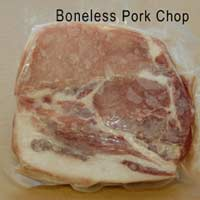 boneless pork chop retail store