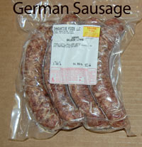 German sausage retail meat